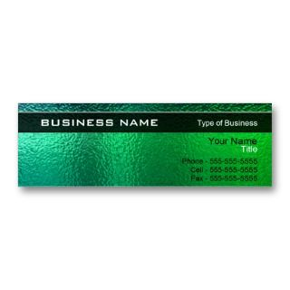 Green and Blue Metal Generic Business Card Template