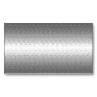 Silver Metal Look Business Cards