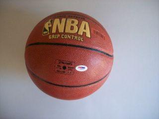 Karl Malone Signed Basketball PSA DNA J09571