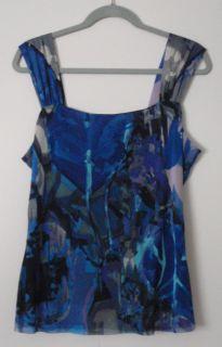 Elana Kattan Sleeveless Colorful Print Blouse Shirt Many Variations