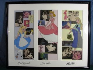 Disney Princess Sericel Signed Cinderella Alice Wonderland Sleeping