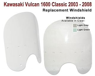 Kawasaki Vulcan 1600 21 2005 2008 Clear Windshield Screen