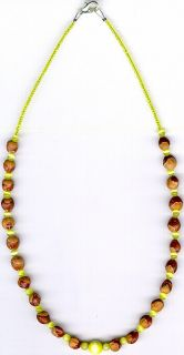 NAVAJO MENS WOMENS GHOST BEAD CEDAR BEAD NECKLACE#19, NATIVE AMERICAN