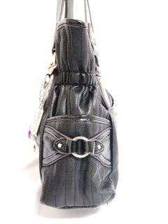 Kathy Van Zeeland Skip A Beat Belt Shopper Handbag Black