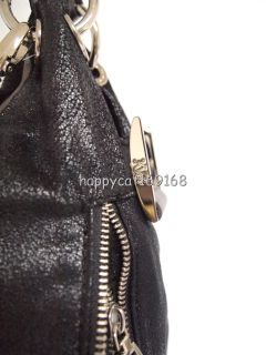 Kathy Van Zeeland Luxury Slouchy Shopper with Zipper Pockets Black