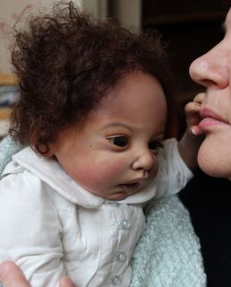Baby Toddler Reborn Girl AA Ethnic Biracial Doll Lulu Sculpt by Jen