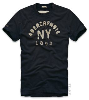 Abercrombie Fitch AF Mens Applique Graphic Tee T Shirt