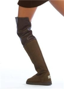 Love Collective Brown Tall Slouch Thigh High Boot 7 Katie Price