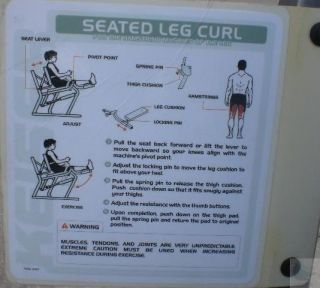 Keiser Model 1221 15 Air Powered Seated Leg Curl Workout Exercise