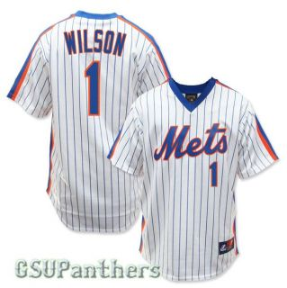 Mookie Wilson New York Mets 1986 Cooperstown Home Jersey Mens Sz s