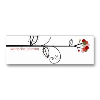 Bloom Tree Dots  *05 Profile Card  Gift Tag  Business Cards
