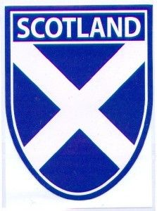 St Andrews Flag Scottish Decal Car Sticker Saltire Shield
