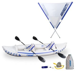 330 Pro 2 Person Inflatable Kayak Canoe Quiksail 45° Boat Sail