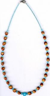 Mens Womens Ghost Bead Cedar Bead Necklace 18 Native American Jewelry