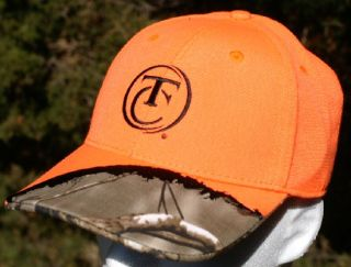 Thompson Center Arms Gun Maker Hat Cap Orange Camo NWT Hunting Rimfire