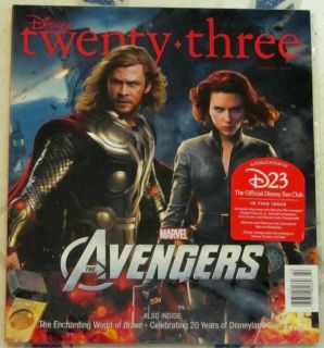 DISNEY Twenty Three 23 SUMMER 2012 Marvel AVENGERS Thor & Black Widow