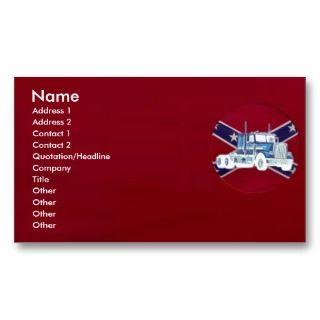 Rebel Truck Profile Card Business Card