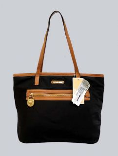 Michael Kors Black Nylon Kempton Gold Lock Small Tote MSRP$98 00