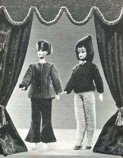 1966 Barbie Ken Teenage Dolls Fashion Patterns Sew Knit Crochet