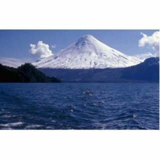 Osorno volcano and Todo Los Santos lake, Chile Photo Cut Out