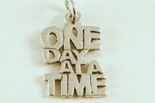 One Day at A Time Charm Pendant 925 Sterling Silver