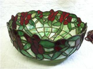 Antique Bigelow & Kennard Boston Leaded Panel Glass Shade Bronze Table