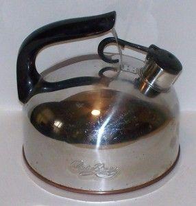 Vintage Tea Kettle Revere Ware Signature Series Copper Stainless C 94