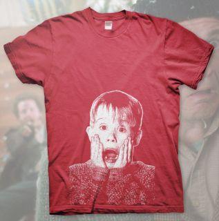 ALONE   High Quality T Shirt MACAULAY CULKIN Kevin Christmas Funny DVD