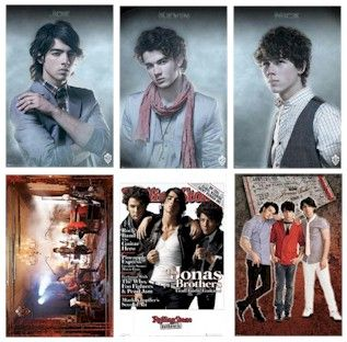Jonas Brothers 6 Poster Set Joe Nick Kevin 22x34 Lot