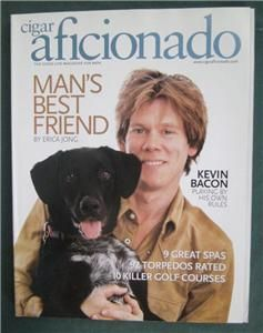 Kevin Bacon Cigar Aficionado Magazinesjune 200O Men Mans Best Friend