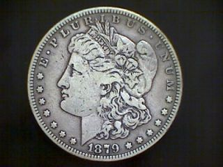 1879 s Morgan Silver Dollar Coin 2nd Reverse Semi Key Date Coin