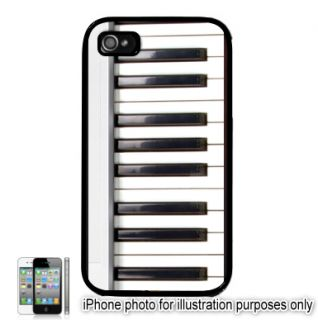 Keyboard Keys Piano Photo Apple iPhone 4 4S Case Cover Skin Black
