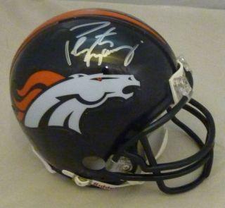 Peyton Manning Autographed Signed Denver Broncos Riddell Mini Helmet