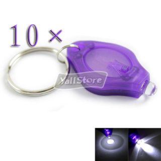10 × 1 LED Super Bright Mini Flashlight Ring Keychains