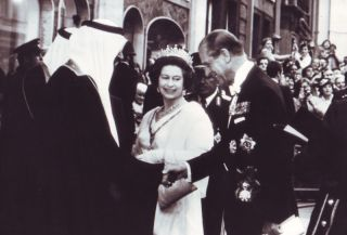 Queen Elizabeth King Khaled Saudi Arabia