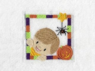 Halloween Kids Blocks Machine Embroidery Designs