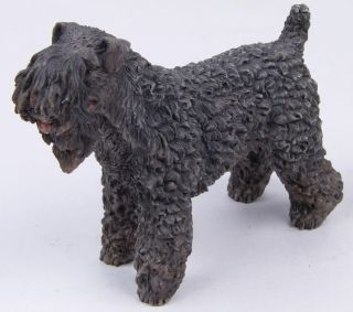 Kerry Blue Terrier Dog Figurine Lifelike Statue Lovely