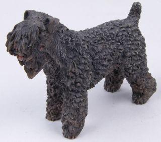 Kerry Blue Terrier Dog Figurine Lifelike Statue Lovely