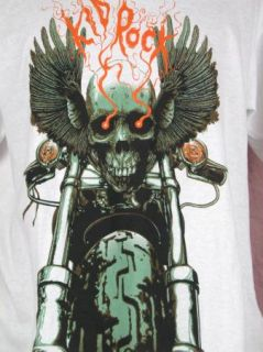 Kid Rock Skull Eagle Wings Motorcycle Mens T Shirt XL Rock N Roll
