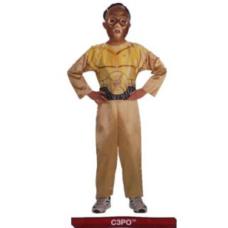 Kids Star Wars Halloween Costume C 3PO Robot Boys Jumpsuit Mask Choose