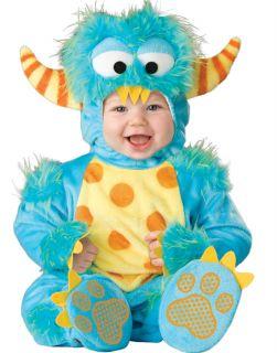 Cute Infant Fluffy Blue Little Monster Toddler Baby Kids Halloween