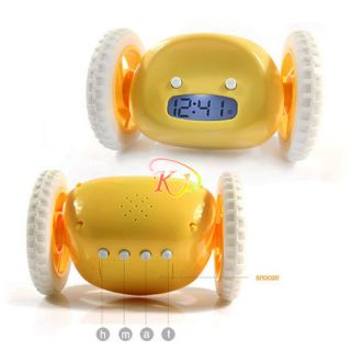 Running & Jumping Digital Robot Loud Alarm Clock Kid Boy Girl Toy Gift