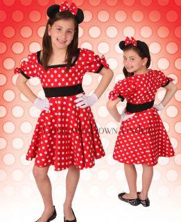 BN Kids Girls Disney Minnie Mouse Costume Dress 8 10 12