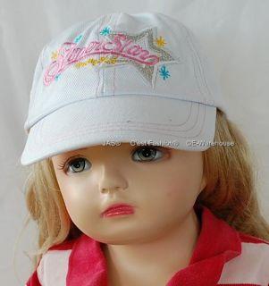Kid Girl Baseball Cap Adjustable Glitering Star Cotton