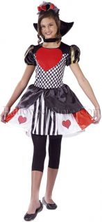 Queen of Hearts Child Costume Wonderland Evil Queen