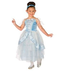 Blue Princess Gown Queen Costume Dress Child Kids Dress Up