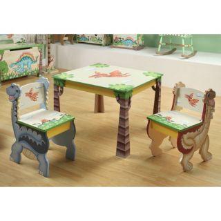 Teamson Kids Dinosaur Kingdom Childrens Table and 2 Chairs Set TD