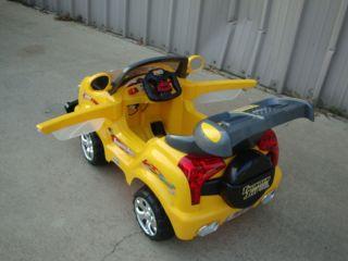 Kids 5 MPH Power Ride on Remote Control Truck Car Wheels Choice Blk