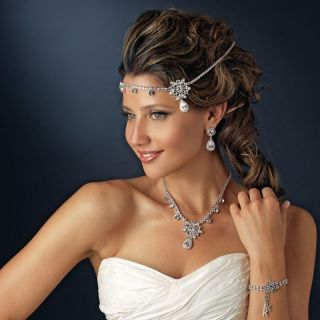 Kim Kardashian Style Silver Wedding Bridal Tiara Hair Prom Pageant Pin