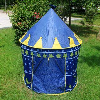 Portable Folding Kids Play Tents Castle Children Princess Cubby Palace